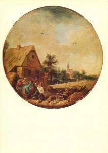 David Teniers le Jeune paysage avec taverne Postcard