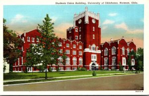 Oklahoma Norman Students Union Building University Of Oklahoma Curteich