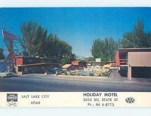 Unused Pre-1980 MOTEL SCENE Salt Lake City Utah UT HJ8804