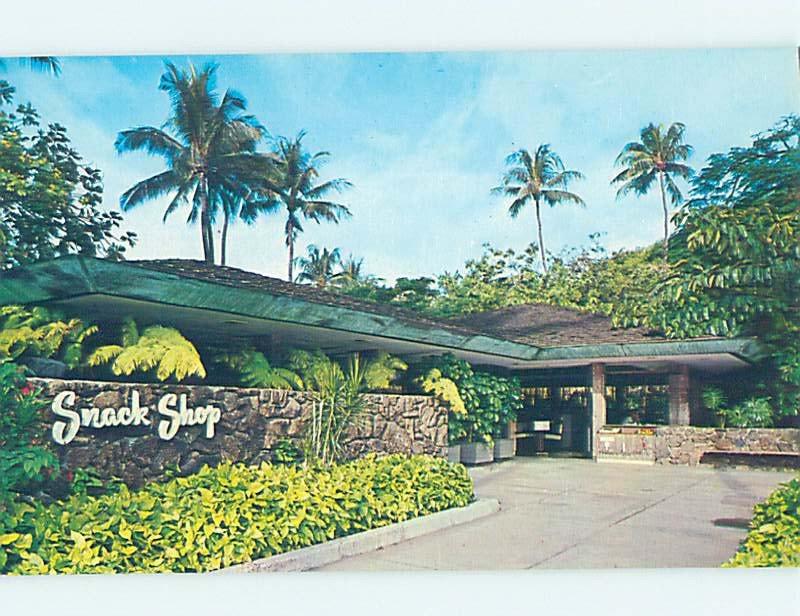 Pre-1980 SNACK SHOP Honolulu Hawaii HI AF2614