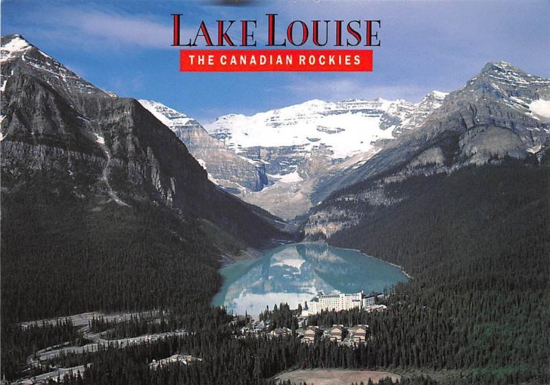 The Canadian Rockies Lake Louise Aerial view Panorama Mountains