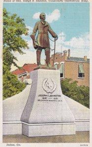 DALTON, Georgia, PU-1945; Statue Of Gen.Joseph E. Johnston, Commander Confede...