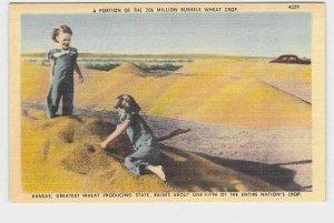 VINTAGE POSTCARD KANSAS GREATEST WHEAT PRODUCING STATE 1947 NEVER POSTALLY USED