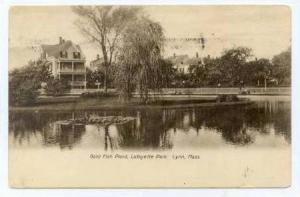 Gold Fish Pond,Lafayette Park,Lynn,Massachusetts,1907