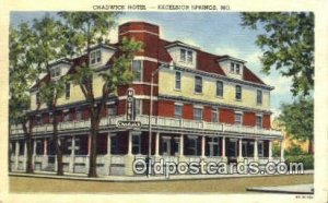 Chadwick Hotel, Excelsior Springs, MO, USA Motel Hotel 1956 postal used 1956