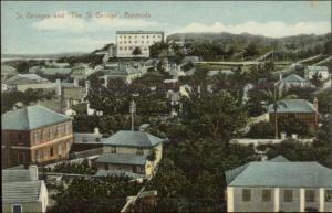 Bermuda St. Georges & The St. George c1910 Postcard