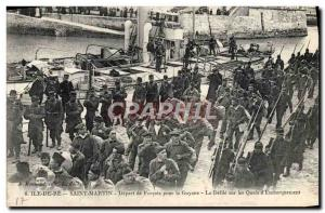 Postcard Old Steam Bagnard Ile de Re Saint Martin Travel from convicts to Fre...