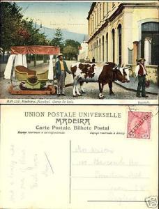 portugal MADEIRA Carro de Bois 1910 Republica Stamp 20R