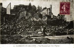 CPA   Clermont-en-Argonne Vue Panoramique (sur l'Eglise)  (178382)