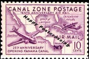 PACK of 3 New Happy Postcrossing Postcards, US Air Mail, Canal Zone Postage S82
