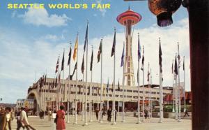 WA - Seattle, 1962. Seattle World's Fair (Century 21 Exposition). Plaza of St...