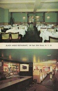NEW YORK CITY, 1957 ; Black Angus Restaurant