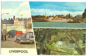 UK, Liverpool, Mersey Tunnel Entrance, 1974 used Postcard