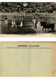 CPA AK Bullfighting - Courses de Taureaux - Une Mauvaise Estocade (777218)