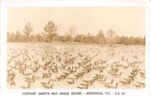 C52/ Ansonville North Carolina Postcard c50s RPPC Lockhart Gaddy's Goose Refuge