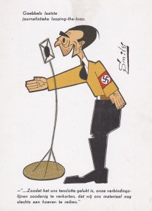 AS; Anti-Nazi , anti-Goebbels , Artist SMITS , 1930-40s