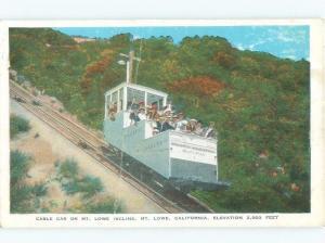 W-Border TOURISTS TRAIN CABLE CAR Mount Lowe - Pasadena - Los Angeles CA E9488