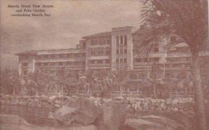 Philippines Manila The Manila Hotel New Annex and Palm Garden Overlooking Man...