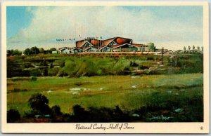 Oklahoma City OKC Postcard NATIONAL COWBOY HALL OF FAME Artist-Signed BOREN