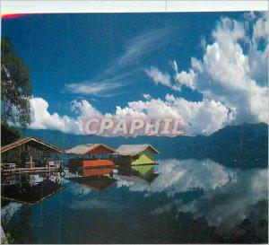 Postcard Modern Floating restaurants in Lake Maninjau Sumatra