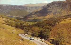 The English Lakes Honister Pass and Borrowdale Valley Vintage Car Postcard