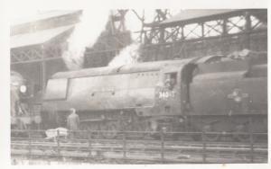 34043 Train At Bournemouth Station Vintage Railway Photo