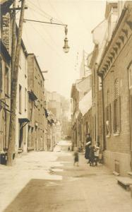Real photo postcard made in Canada animated street lamp view to identify