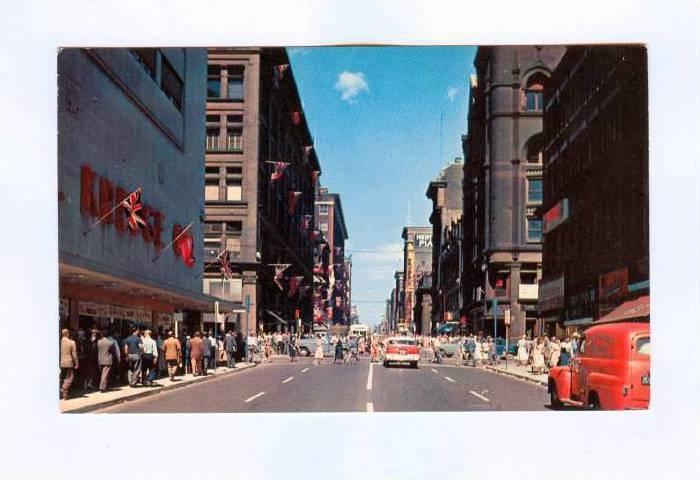 Yonge St. Looking North, Toronto, Ontario, Canada, 50-70s