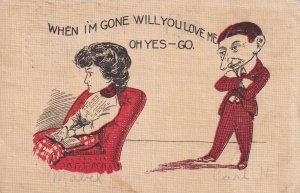 Man reproaching a woman, 1900-10s