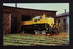 NJ New York Susquehanna Western Railroad Train Little Ferry New Jersey Postcard