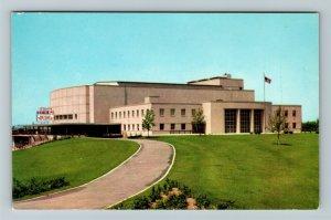 Columbus OH-Ohio, Franklin County Veterans Memorial Auditorium, Chrome Postcard