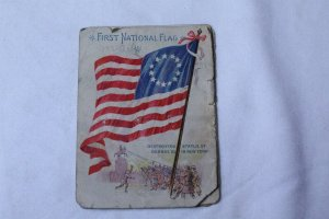 Lot Ca. Pre 1920's Advertising Booklet Featuring Early American Flags 10 pages
