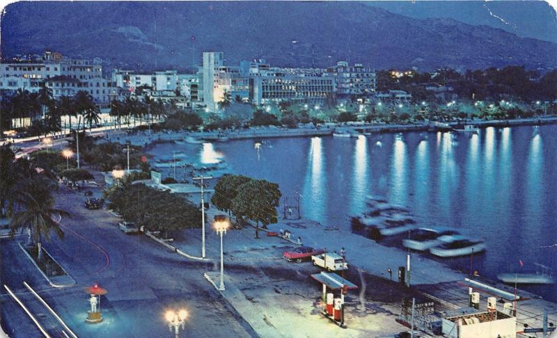 Gas Station For Sale In Alberta >> Acapulco Mexico~El Malecon Vista De Noche~The Breakwater ...