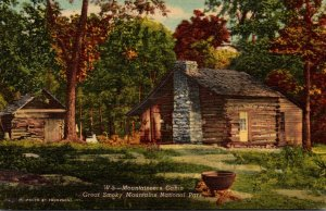 Great Smoky Mountains National Park Typical Mountaineers Cabin Curteich