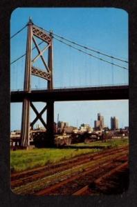 OH Anthony Wayne Bridge TOLEDO OHIO Postcard PC