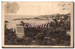 Old Postcard Menton Garavan general shooting
