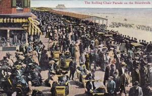 New Jersey Atlantic City The Rolling Chair Parade On The Boardwalk