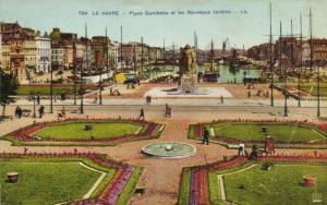 CPA  Le Havre - Place Gambetta et les Nouveaux Jardins    (201188)