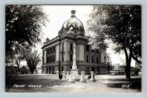 RPPC of Lancaster WI, Courthouse, Wisconsin Postcard