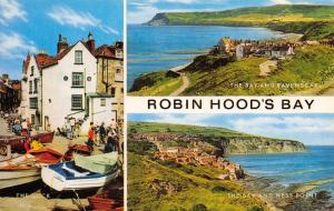 Robin Hoods Bay Postcard, North Yorkshire, Multi View N95