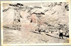 RPPC View of Sun Valley ID from Top of Mount Baldy Vintage Postcard W18