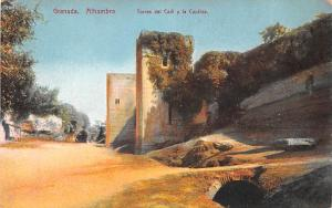 Spain Old Vintage Antique Post Card Alhambra Torres del Cadi y la Cautiva Gra...