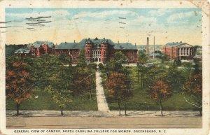 Postcard North Carolina College For Women Greensboro Posted 1926