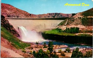 Vtg Postcard 1960s Chrome Idaho ID Boise -Arrowrock Dam Unposted Mike Roberts
