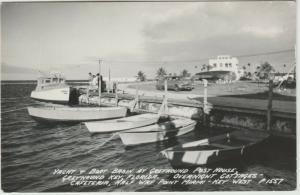 Key West, FL Yacht Basin Greyhound Post House RPPC near Miami Postcard
