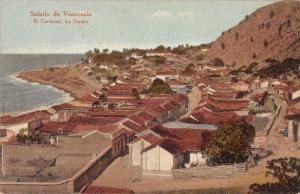 El Cardonal La Guaira Venezuela Birds Eye View Town Waterfront Postcard J79447