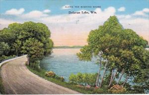 Wisconsin Delavan Lake Along The Winding Shore 1946