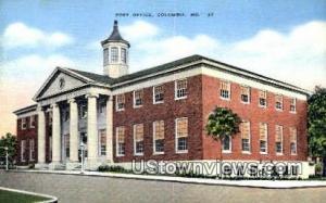 Post Office Columbia MO Unused