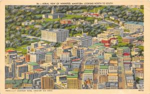 Winnipeg Manitoba~Aerial View of City~Canadian Airforce Photograph~1940s Pc