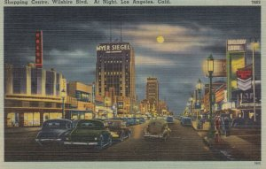 LOS ANGELES , California , 1930-40s ; Shopping Centre , Wilshire Boulevard at...